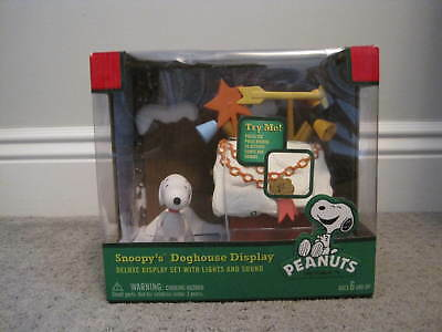 Snoopy's Doghouse Display - Works Lights & Sound - Hallmark - Never Been Opened