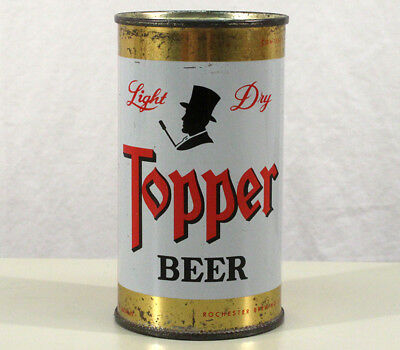 Topper Light Dry Flat Top Beer Can Rochester New York Ny Hat Banktop Old Vintage