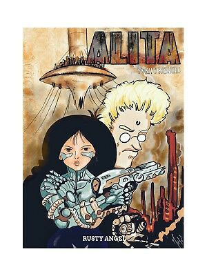Alita - Rusty Angel - illustrazione 21x29,7 di Frog
