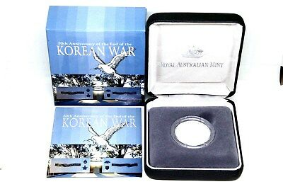 Ram 50Th Anniversary Of The End Of The Korean War $1 Fine Silver Proof Coin