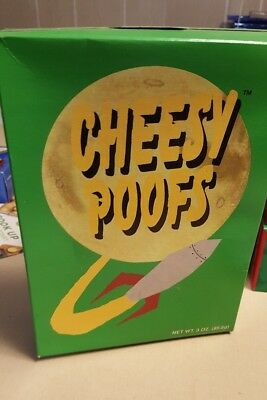 South Park CHEESY POOFS promotional BOX with food 1998 Comedy Central KYLE Rare!
