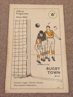 Rugby Town v Stourbridge 1964/65 FA Cup 2nd Qualifying Round 19/9/64