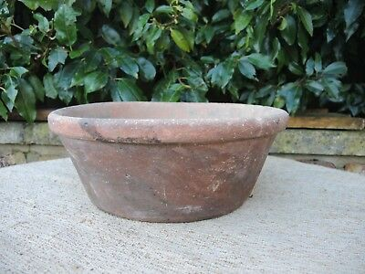 """Rare Old Round Terracotta Seed Pan Plant Pot  12"""" (1121c)"""