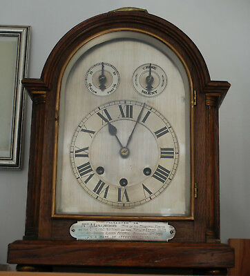 Silver dial Bracket clock Masonic interest