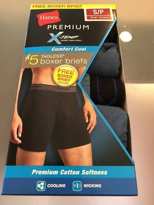 """38b452cd5d68 ... 5 Pack Comfort Cool · Like us on Facebook · Hanes Premium X-Temp Boxer  Briefs Mens Size S 28""""-30""""Tagless"""