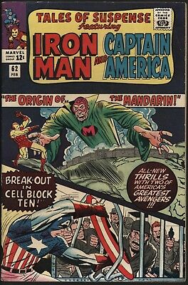 Tales Of Suspense #62 Origin Of The Mandarin Very Glossy  Cents Copy White Pages