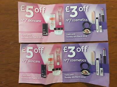 Boots No 7 Vouchers Cosmetics Skin Care Money Off Make Up