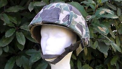 US Army WW2 style Vietnam War to Early 1980s M-1 Helmet & Frog Skin Camouflage