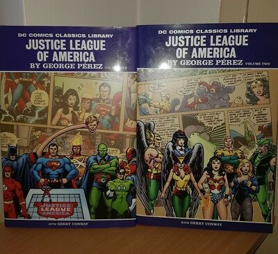 Justice League of America by George Perez DC hc vol 1 and 2