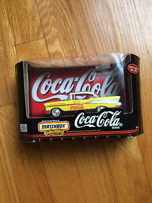 Coca-Cola Matchbox Collectibles 1998 1957 Chevy Bel Air item #37974 asst. #37948