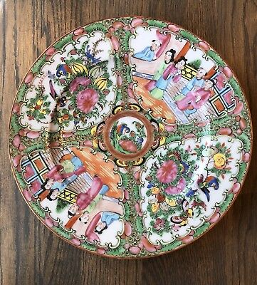 """ANTIQUE Chinese ROSE MEDALLION Plate 9.5"""""""