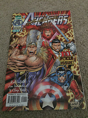 Heroes Reborn Avengers #1 Signed By Liefeld-Captain America/iron Man/thor/cgc