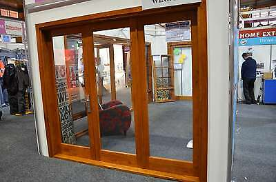 Cedar Timber Bifold Door 3 Panel, Pre-Hung & Stained, 1 Right , 2 Left