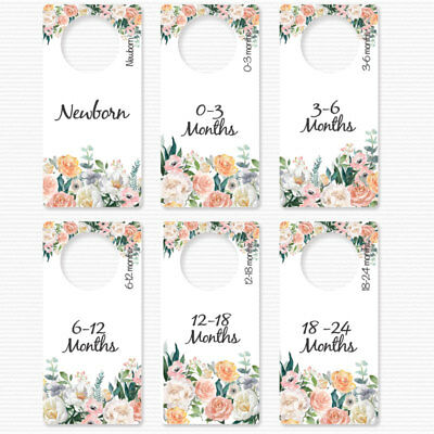 BABY Girl Clothes Wardrobe Dividers Floral Baby Shower gifts organisers