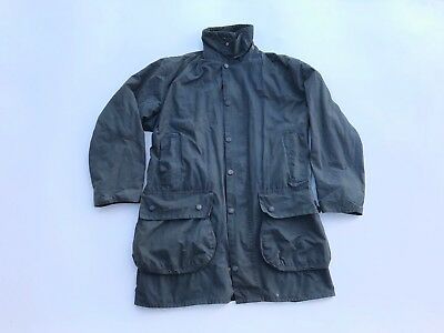 Men's Barbour Border Waxed Oil Jacket Size C40/102cm