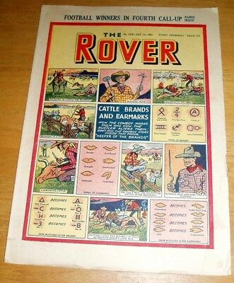 Rover Comic  1/12/1951   With Cattle Brands & Earmarks Cover