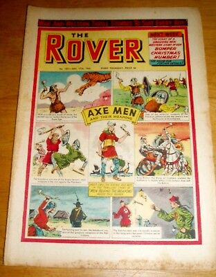 Rover Comic 17/12/1960 With Axe Men & Weapons  Cover