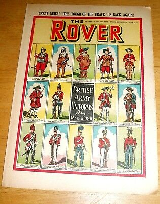 Rover Comic  20/6/1953 With British Army Uniforms 1642 - 1846 Cover Scot's Greys
