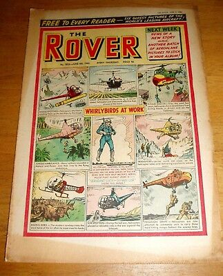 Rover Comic  4/6/1960  With  Helicopters   Cover