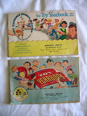 2 Vintage TOY YEARBOOKS-TOY CATALOGS-1953-1954 and 1955 for HOLIDAY HOUSE in NY