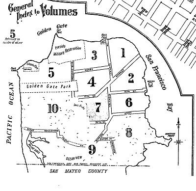 San Francisco, California~Sanborn Map© sheets~1913~Vol 2 with 117 maps~on CD