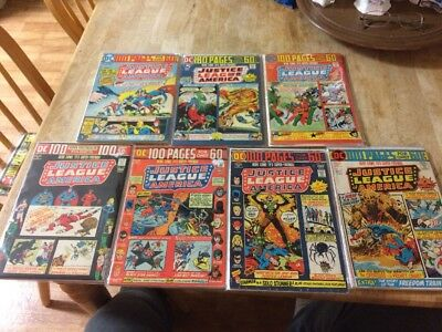 LOT(7) Justice League America 100 page GIANTS. 110,111,112,113,114,115,116. JLA.