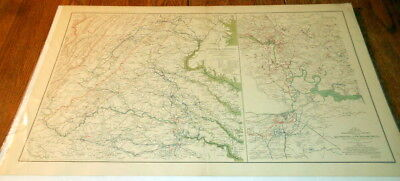 Civil War Battlefield Map - Official Records of the Union and Confederate #1