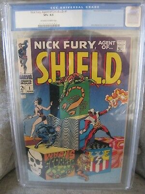 Nick Fury Agent of Shield #1 CGC 8.5 OWW pgs Steranko Old Label press for NM