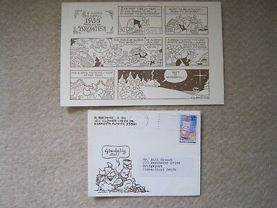 Dik Browne - personal Hagar the Horrible 1984 Christmas card to Bill Crouch POGO