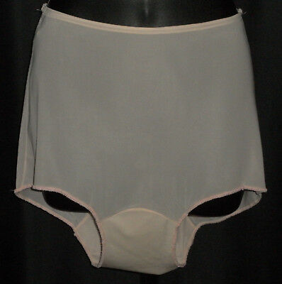 "~ Vintage 1960's VAN RAALTE ""Sheerio"" #5950 Pale Pink Tailored Nylon Panties 5 ~"