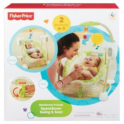 Fisher Price Rainforest Friends Spacesaver Swing & Seat Brand New in Box