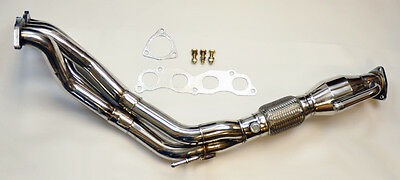 Long Tube Stainless Race Manifold Header w/ Downpipe for Acura RSX Type S 02-06