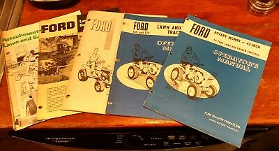 Old Ford 100 & 120 Lawn And Garden Tractor Manual + Rotary Mower Manual 42