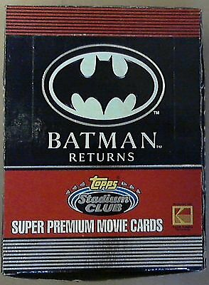 1991 Topps Stadium Club Batman Returns Unopened Card Box 36ct 15 Movie Cards Ea