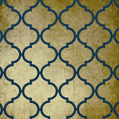 Moroccan #1 Stencil Template: Large:  Scrapbooking, Airbrushing, Art:  ST22A4