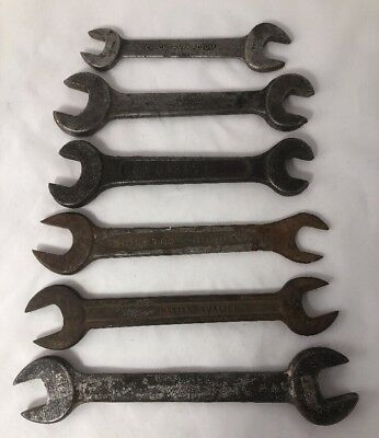 Vintage Lot Of 6 Made In The US Wrenches Indestro Fairmont Cleve Vanadium Master