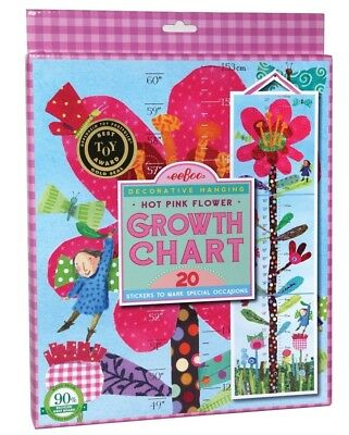 NIB! eeboo Hot Pink Floor Keepsake Growth Chart Memories - Baby Room Deco.
