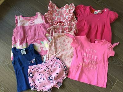 Girls baby clothes size 0 (6-12 month) summer - bulk