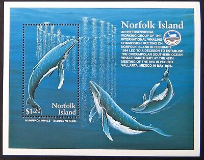 1995 Norfolk Island Stamps - Humpback Whales - Mini Sheet MNH