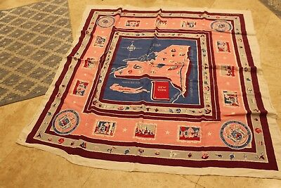 vintage State of New York Table Cloth