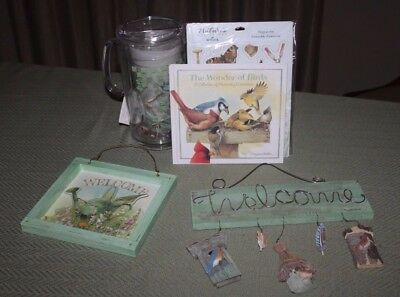 Big Lot Marjolein Bastin Items The Wonder of Birds Book Ice Tea Pitcher Welcome