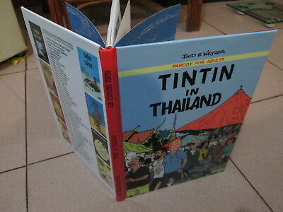 TINTIN in THAILAND,funny RARE parody 62pa.A4 with 32 IN COLOR!!! Numérotée 22/30