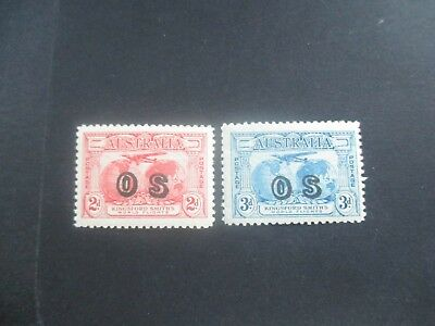Pre decimal Stamps: Airmail Overprint OS Set Mint   (a70)