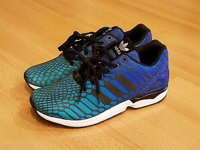 8ef3192a6 Adidas Zx Flux Xeno Reflective Running Shoes Sneakers Aq7419 Men 10.5 Blue  Green