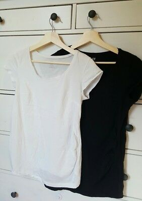 H&M Maternity Tops Pack Black and White Size Medium