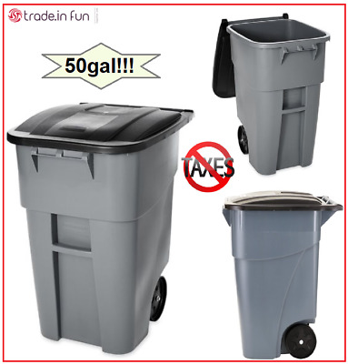Outdoor Trash Can With Wheels Adorable LARGE OUTDOOR TRASH Can 60Gal Brute Rolling Garbage Bin Portable