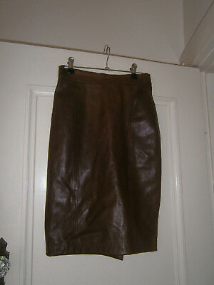 Rely women's vintage leather skirt