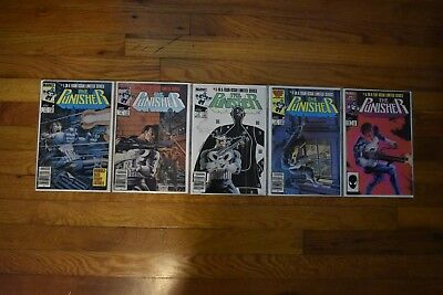 The Punisher Vol. 1 1-5 (Complete Limited Series) Marvel Comics 1985, 1986
