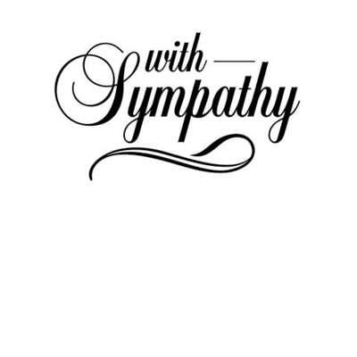 Darice - With Sympathy Embossing Folder - Compatible with Cuttlebug & Sizzix