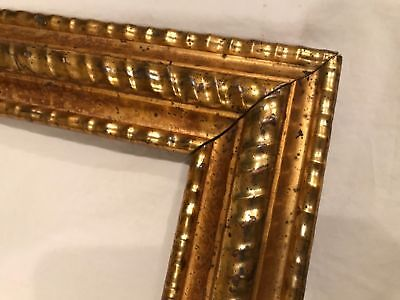 Antique 20x14 19th Century Gold Leaf Gilt Carved Ripple Picture Frame